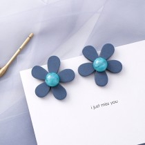 藍色小花朵 耳環耳針 X RUNWAY FASHION ICON
