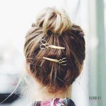 【買一送一】復古小剪刀髮夾 韓國網紅 髮飾頭飾俏皮可愛一字夾 (2色) X RUNWAY FASHION ICON