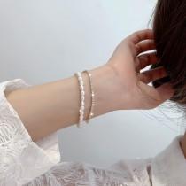 閃亮亮方鑽巴洛克風珍珠手鍊項鍊  ♥  氣質典雅雙層手環手鍊項鍊 X RUNWAY FASHION ICON