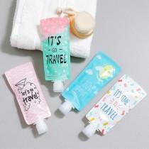 【買二送二】牙膏形狀旅行軟管折疊化妝品沐浴乳乳液洗髮精液體分裝罐(4色) X RUNWAY FASHION ICON