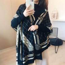 【免運】女神款時髦巴黎鐵塔雙面保暖圍巾 ♥ 仿羊絨秋冬圍脖 (3色) X RUNWAY FASHION ICON