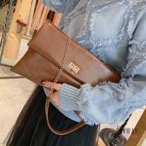 【免運】復古風質感手拿包信封包單肩包OL通勤女孩簡約休閒(3色) X RUNWAY FASHION ICON