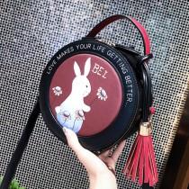 【免運】萌萌兔子小圓包流蘇圓形包  小巧實用斜肩包手提包單肩包兔子包(3色) X RUNWAY FASHION ICON