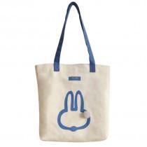 可愛小兔子大容量休閒帆布包 ♥ 藍色肩帶小資女通勤實用手提包單肩包 X RUNWAY FASHION ICON