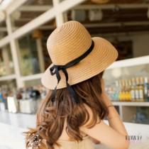 大帽沿草帽圓頂網美帽海邊遮陽防曬防紫外線出遊漁夫帽 (2色) X RUNWAY FASHION ICON