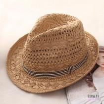 【親子草帽】編織爵士帽夏天防曬遮陽帽網美帽防紫外線出遊 (2色) X RUNWAY FASHION ICON