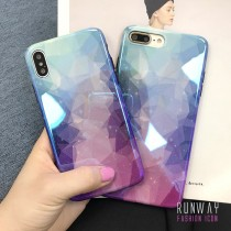 【有影片實拍】渲染水彩漸層紫藍手機殼保護殼iPHONESamsung三星HUAWEI華為 X RUNWAY FASHION ICON