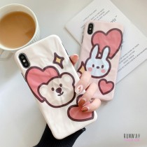 【影片實拍】QQ兔子熊熊愛心皺褶紋路手機殼保護殼iPHONESamsung三星HUAWEI華為 X RUNWAY FASHION ICON