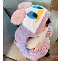 【免運】法蘭絨可愛唐老鴨居家服 冬天保暖衣睡衣(4色) X RUNWAY FASHION ICON