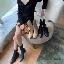 【影片實拍】【免運】秋冬新款歐膩最愛針織顯瘦中跟襪靴尖頭鞋休閒鞋(2色) X RUNWAY FASHION ICON