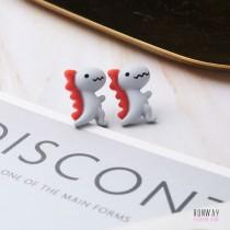【正韓】【現貨】萌哒哒可愛小恐龍耳針耳環 (3色)X RUNWAY FASHION ICON