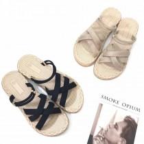 【免運】簡約草編素色涼拖鞋 2色 X RUNWAY FASHION ICON