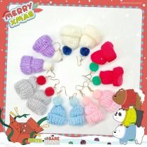 【聖誕節系列】【可改夾】冬季針織毛帽防敏鋼針掛耳耳環 X RUNWAY FASHION ICON