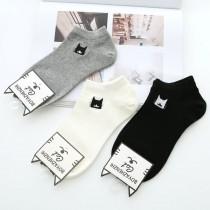 小貓咪襪日系素色棉襪子(6雙)  ♥  棉質船型襪(3色) X RUNWAY FASHION ICON