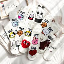 可愛俏皮卡通日系素色棉襪子(6雙)  ♥  短版淺口棉質船型襪(13色) X RUNWAY FASHION ICON