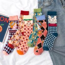 貓咪少女漫畫系 日系棉襪子(3雙)  ♥  棉質中高筒襪(6色) X RUNWAY FASHION ICON