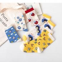 甜美萌萌牛牛草莓卡通風 日系棉襪子(3雙)  ♥  棉質中高筒襪(5色) X RUNWAY FASHION ICON