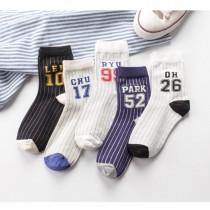 數字條紋運動風 日系棉襪子(3雙)  ♥  棉質中高筒襪(5色) X RUNWAY FASHION ICON