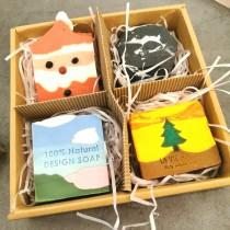 【免運.四入組】聖誕節香氛手工皂禮盒組 俏皮可愛聖誕老公公交換禮物送禮首選 X RUNWAY FASHION ICON